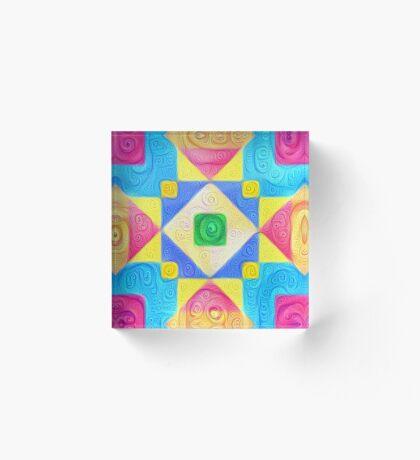 #DeepDream Color Squares Visual Areas 5x5K v1448181063 Acrylic Block