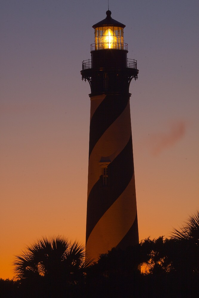 Quot St Augustine Lighthouse At Sunset Quot By Rick Montgomery