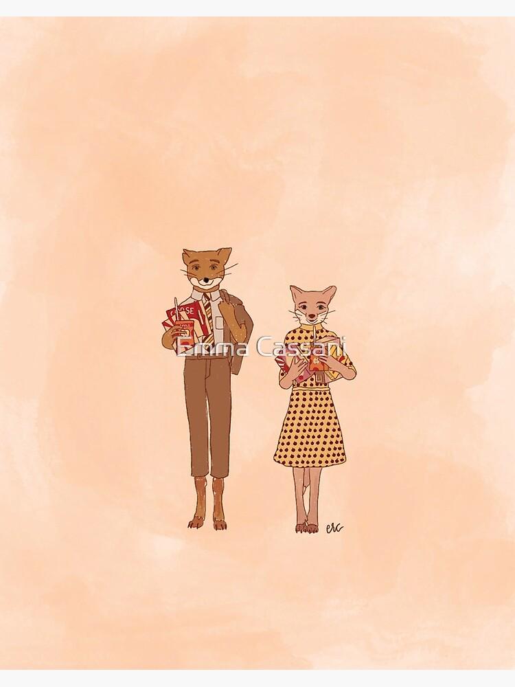 Fantastic Mr Fox Art Board Print By Ecassani Redbubble