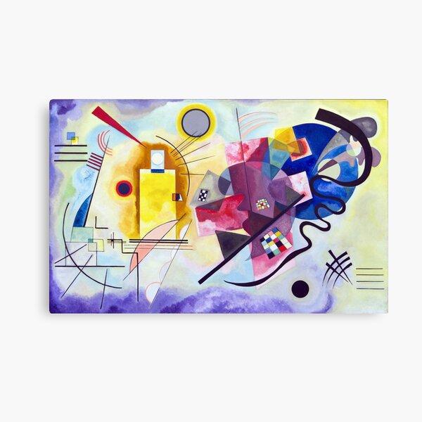 Kandinsky Jaune Rouge Bleu (jaune rouge bleu) oeuvre 1925, dessin abstrait pour affiches, estampes, t-shirts, hommes, femmes, enfants, jeunes Impression sur toile