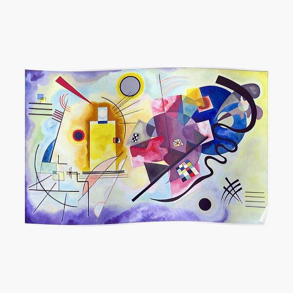 Kandinsky Jaune Rouge Bleu (jaune rouge bleu) oeuvre 1925, dessin abstrait pour affiches, estampes, t-shirts, hommes, femmes, enfants, jeunes Poster