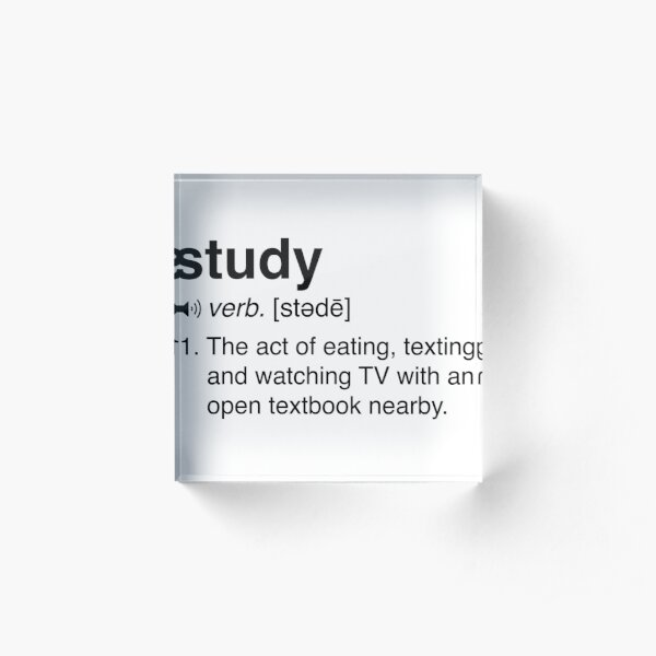 Funny Study Definition Acrylic Block