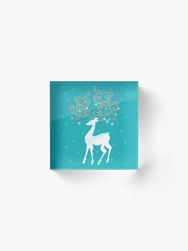 Alternate view of Magic Winter Deer Acrylic Block