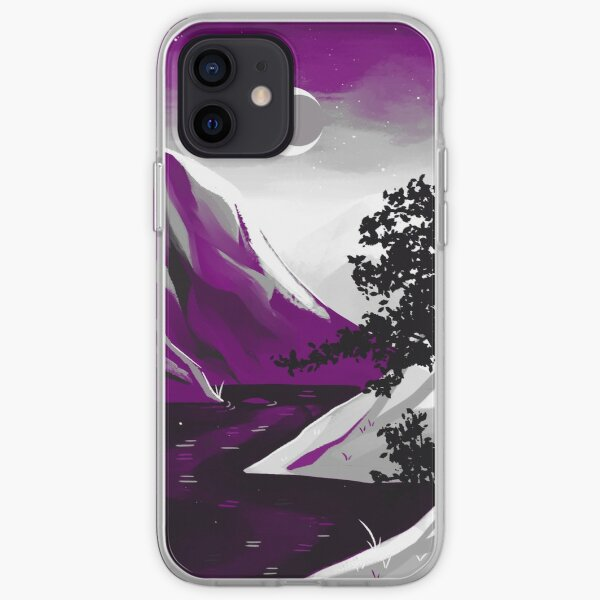 Asexual Pride Mountain iPhone Soft Case