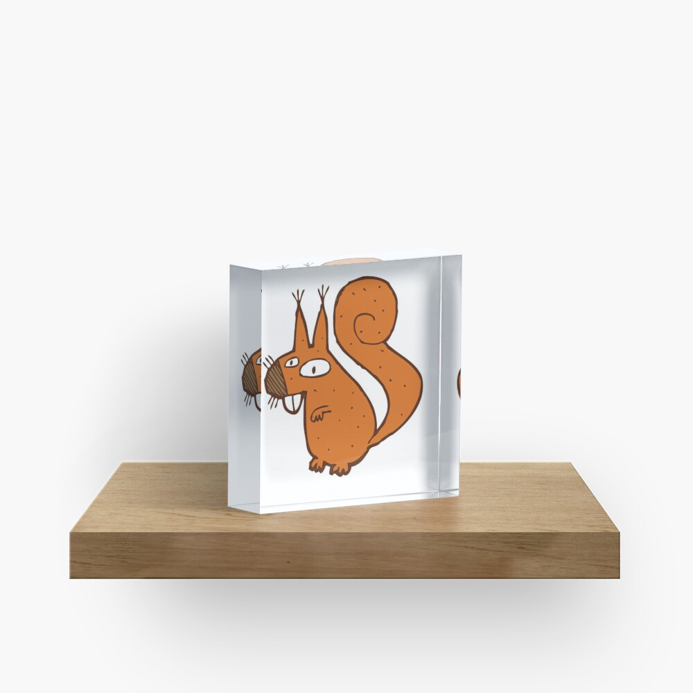 Cute cartoon squirrel Acrylic Block