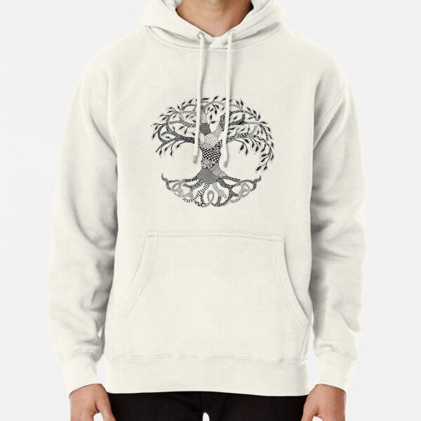 Zentangle Tree of Life Pullover Hoodie