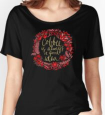 Coffee on Charcoal Women's Relaxed Fit T-Shirt
