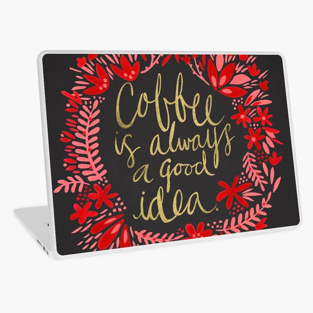 Coffee on Charcoal Laptop Skin