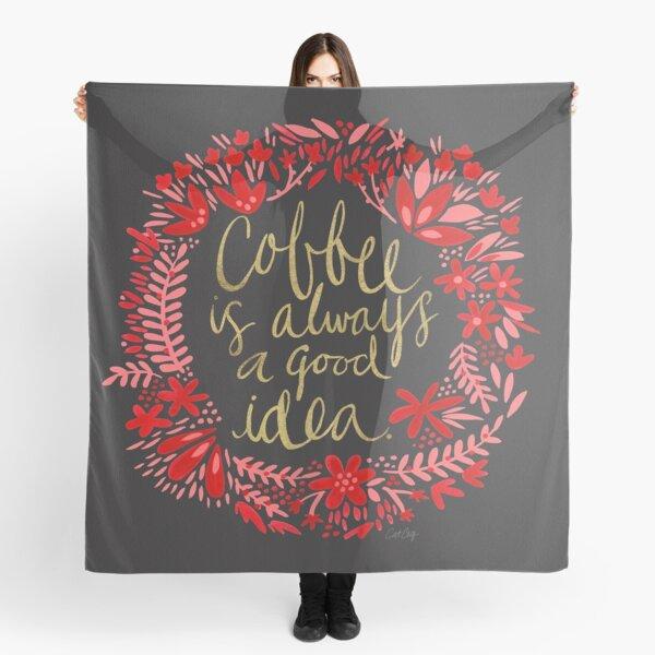 Coffee on Charcoal Scarf