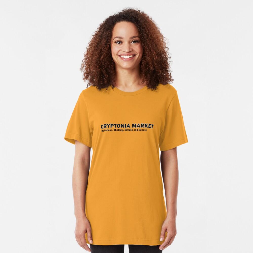 Cryptonia Market! Slim Fit T-Shirt