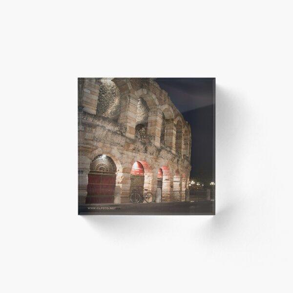 L'Arena at night, Verona, Italy Acrylic Block