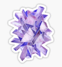 Watercolor Amethyst Sticker