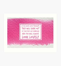 Roald Dahl Sunbeams Quote Art Print