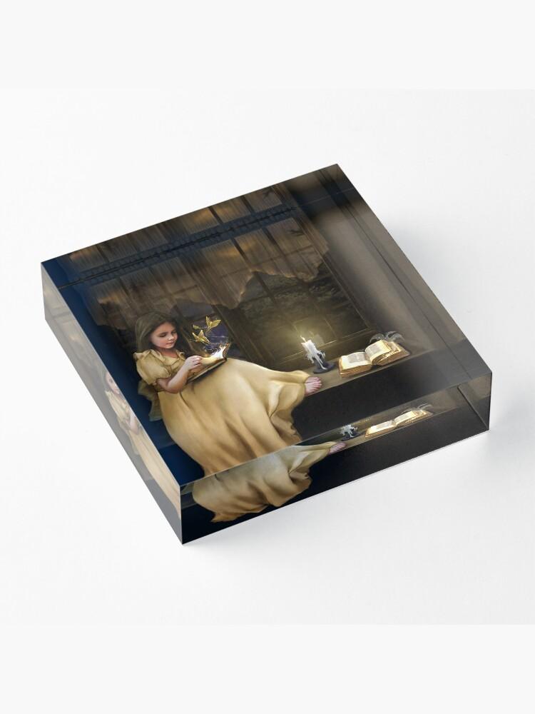 Alternate view of The Magic of Books Acrylic Block