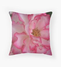 Pink Eye Liner Rose Throw Pillow