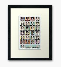 Benedict Cumberbatch Faces Framed Print