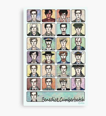 Benedict Cumberbatch Faces Canvas Print