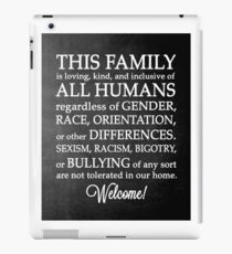 Equality Welcome Sign iPad Case/Skin