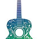 Gitarre und Musiknoten 6 von AnnArtshock