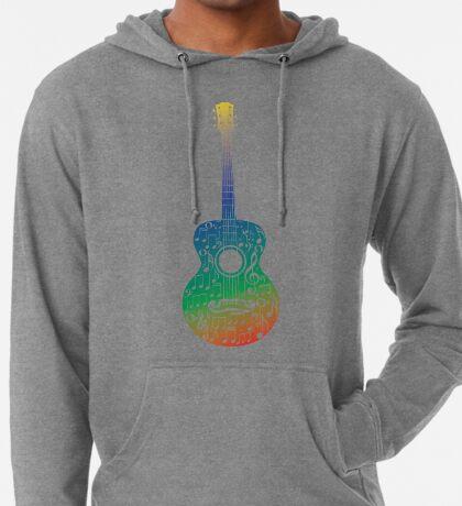 Gitarre und Musiknoten 6 Leichter Hoodie