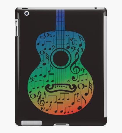 Gitarre und Musiknoten 6 iPad-Hülle & Klebefolie