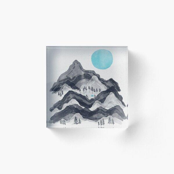 The Sun in Moon Lake... Acrylic Block
