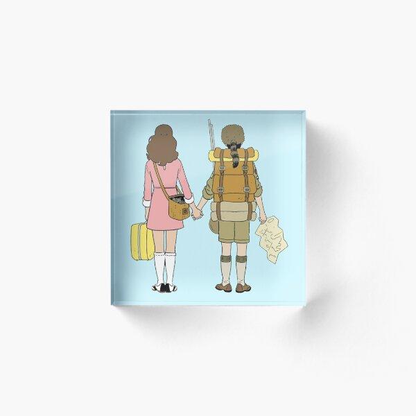 Moonrise Kingdom - Suzy & Sam Acrylic Block