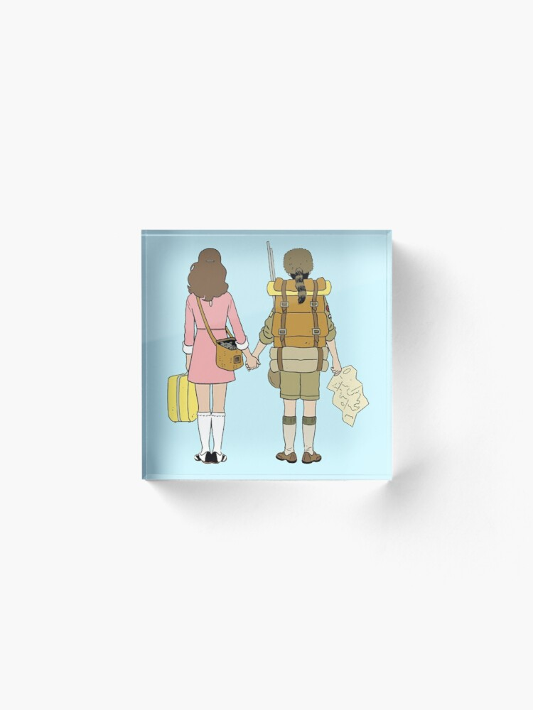 Alternate view of Moonrise Kingdom - Suzy & Sam Acrylic Block