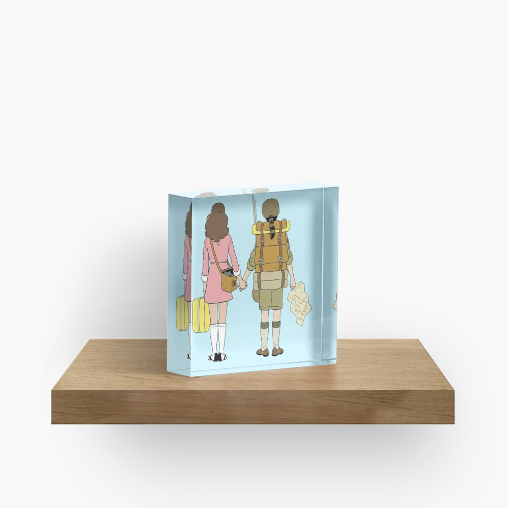 Moonrise Kingdom - Suzy & Sam Acrylic Block