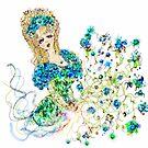 lady w flowers by skycat