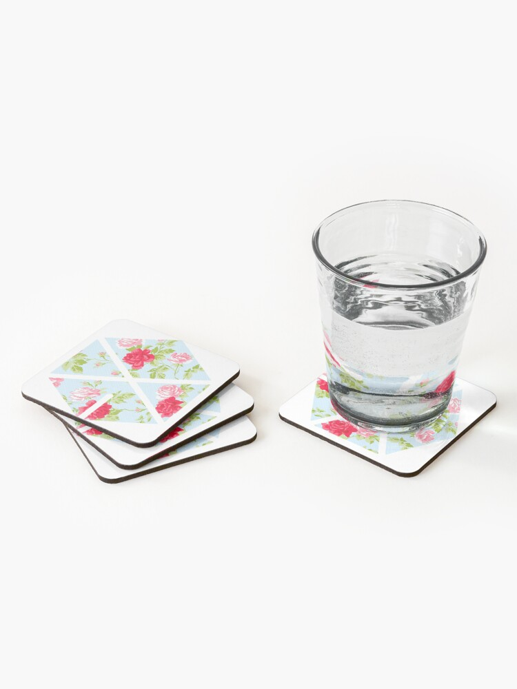 Alternate view of EXO - Blue Floral Coasters (Set of 4)