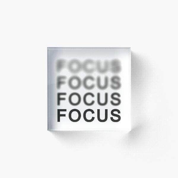 Focus Acrylic Block