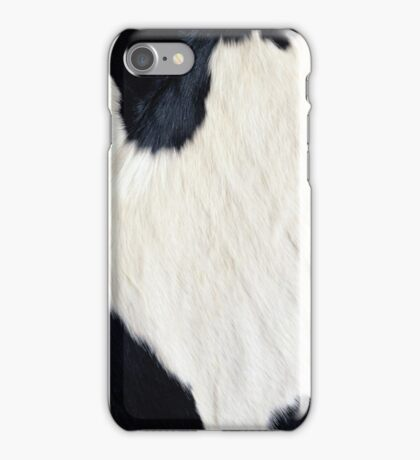 Cowhide Black and white iPhone Case/Skin