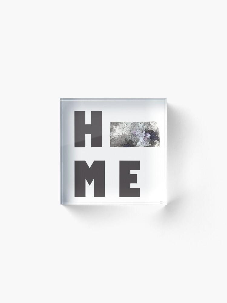 """Alternative Ansicht von Kansas """"HOME"""" Acrylblock"""