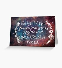 The Lunar Chronicles Space Quote Greeting Card