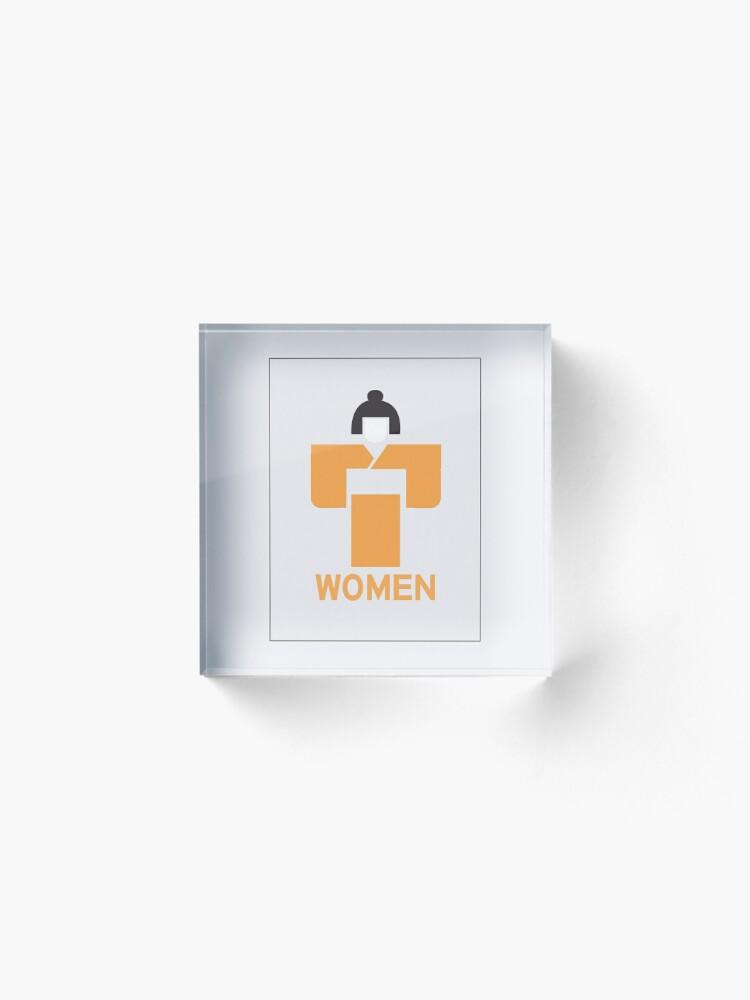 Alternate view of Geisha Women Toilet Sign, Japan Acrylic Block