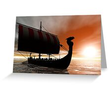 Viking Sunset Greeting Card