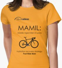 Cycling T Shirt - MAMIL (middle aged men in lycra) Hydration Women's Fitted T-Shirt