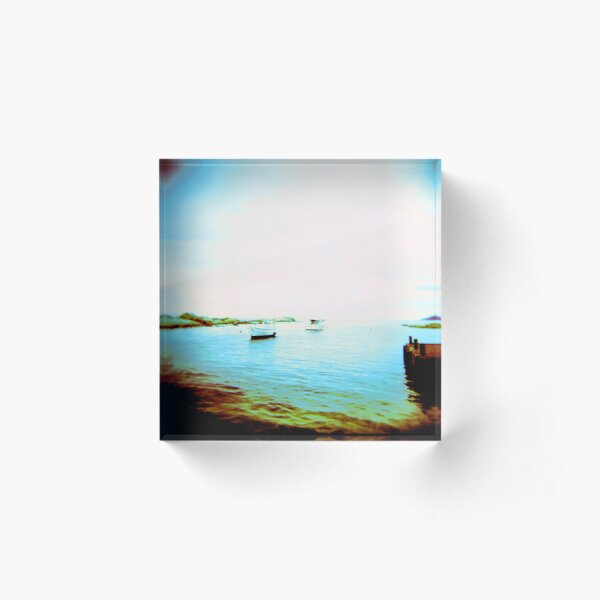 Ghosted Boats Acrylic Block