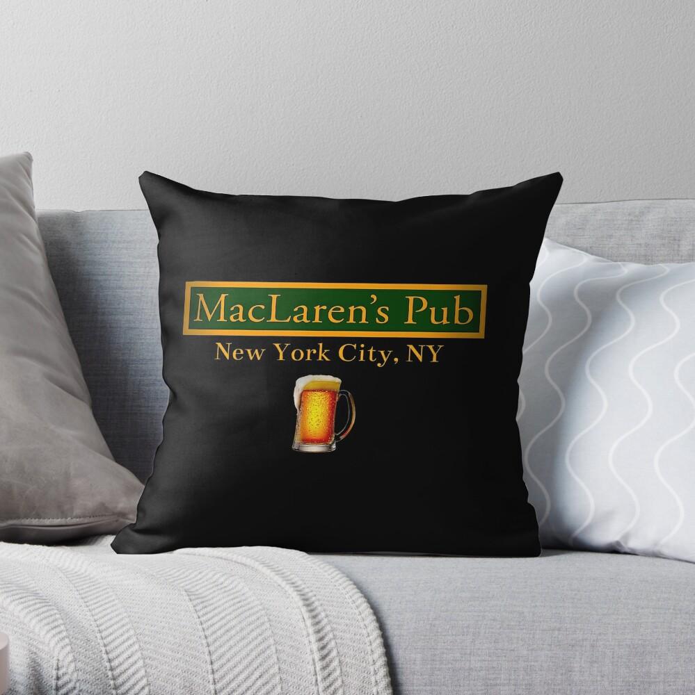 How i Met Your Mother - MacLaren's Pub Black Print Art Design Throw Pillow