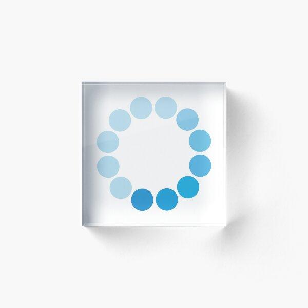 Comic Con Spinning Blue Circle Acrylic Block
