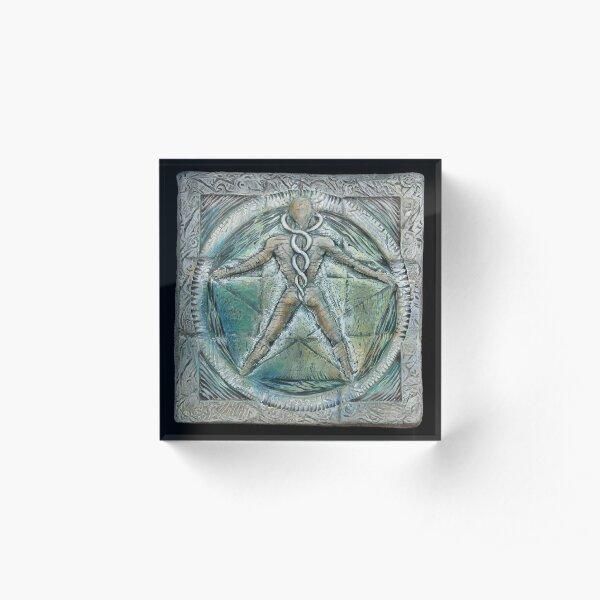 Spiral five: subtle energy  Acrylic Block