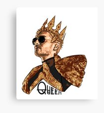 Queen Bill - Black Text Canvas Print