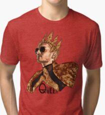 Queen Bill - Black Text Tri-blend T-Shirt