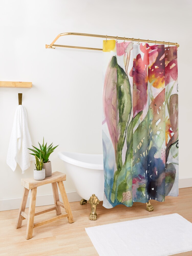 Alternate view of floral whimsy Shower Curtain