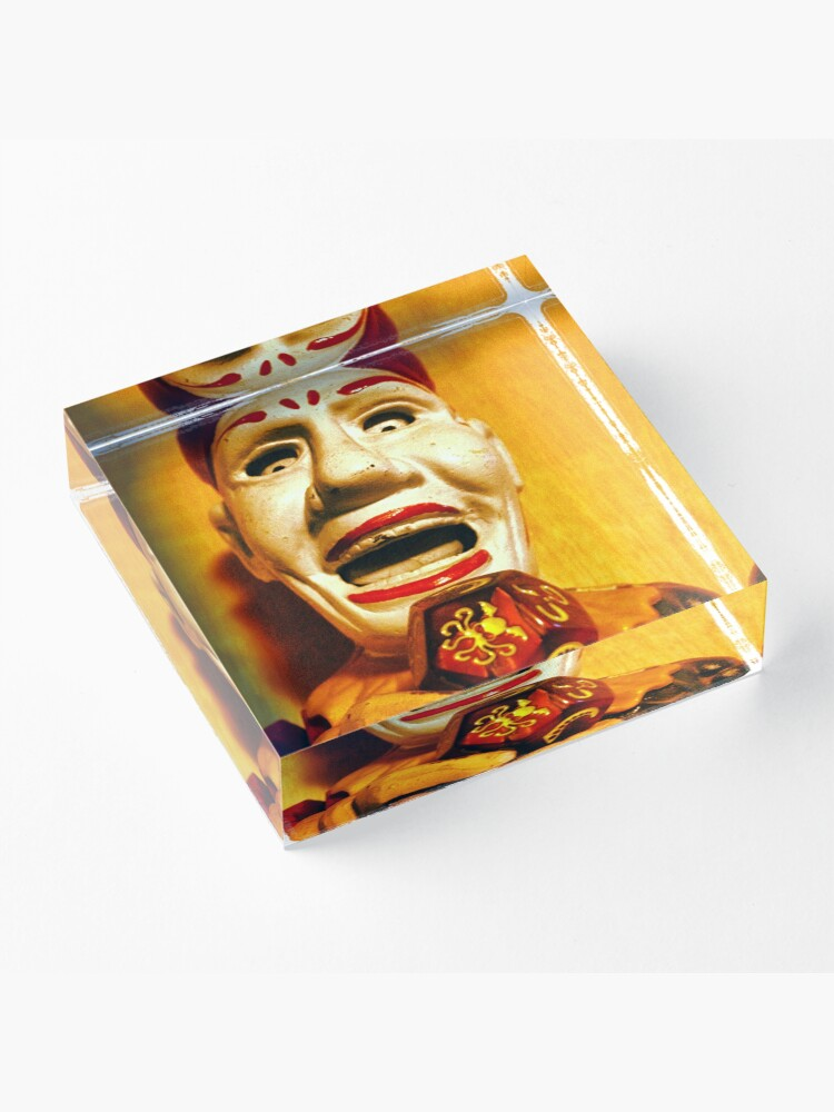 Alternate view of The Klown in Yellow Acrylic Block