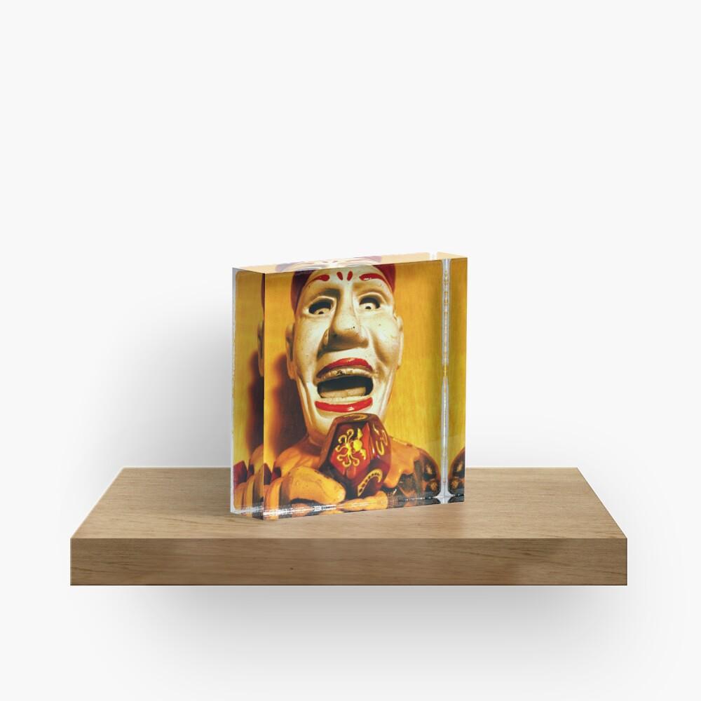 The Klown in Yellow Acrylic Block