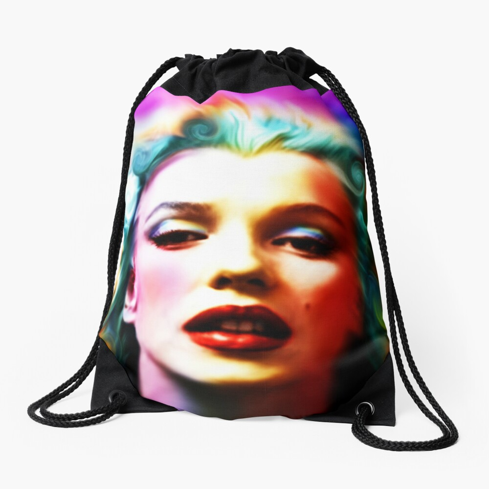 She is like a Rainbow Drawstring Bag