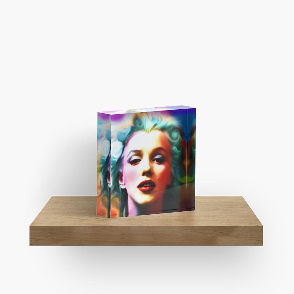 She is like a Rainbow Acrylic Block