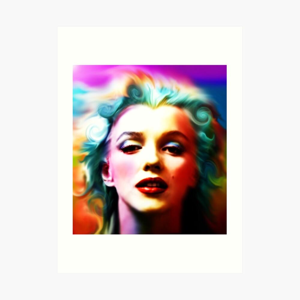 She is like a Rainbow Art Print